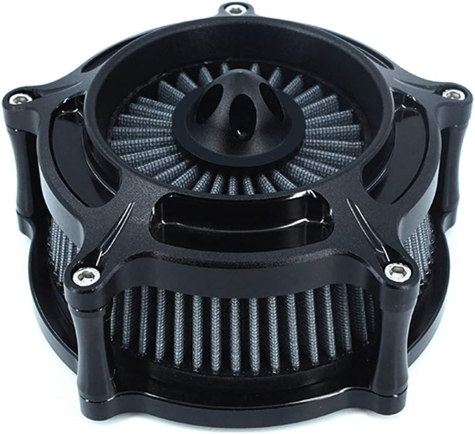 Luftfilter Motorrad Air Cleaner Intake Turbine Filter Cnc Cut Kit Black Für Harley Dyna 2000 2017 Softail 2000 2015 Touring 2000 2007 Einbau Design B Grau Auto
