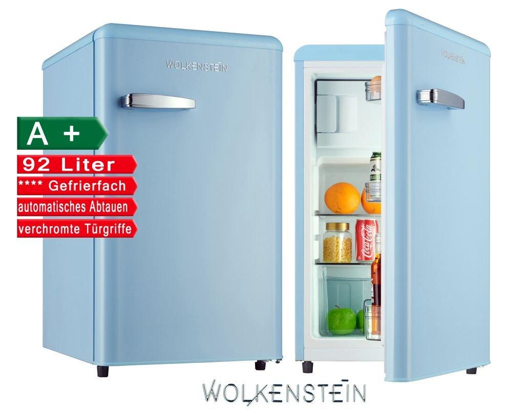 Retro Kühlschrank mit Gefrierfach Hellblau KS 95RT LB A+ 90 Liter ...