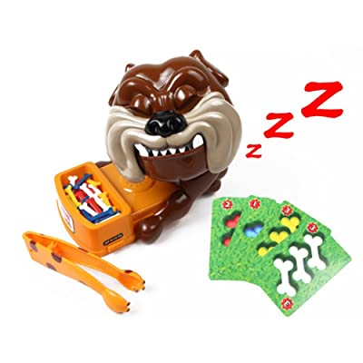 Reddhoon Parent Child Creative Beware of The Dog Don't Wake The Dog Party Game Dog Card Games, Funny Electronic Pet Dog Toys Gift for Kids: Toys & Games