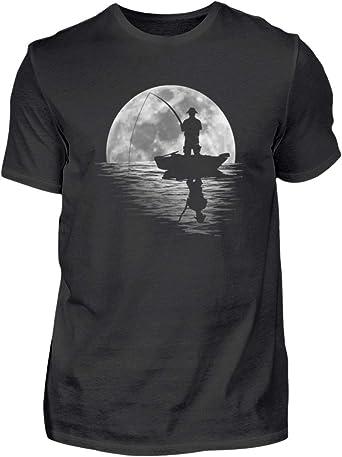 Camiseta para hombre de pesca de luna llena - Un lago, un ...