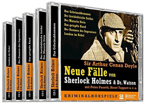 Neue Fälle von Sherlock Holmes & Dr. Watson: 6 Kriminalhörspiele (5 CDs)