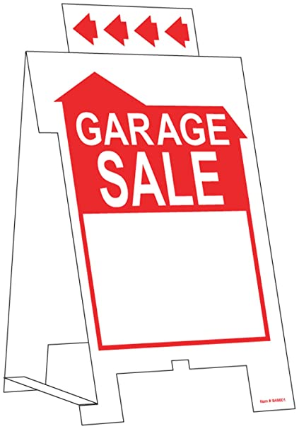 Hillman 848601 Garage Sale Tent Sign White and Red Corrugated Plastic 12x20 Inches 1  sc 1 st  Amazon.com & Amazon.com: Hillman 848601 Garage Sale Tent Sign White and Red ...