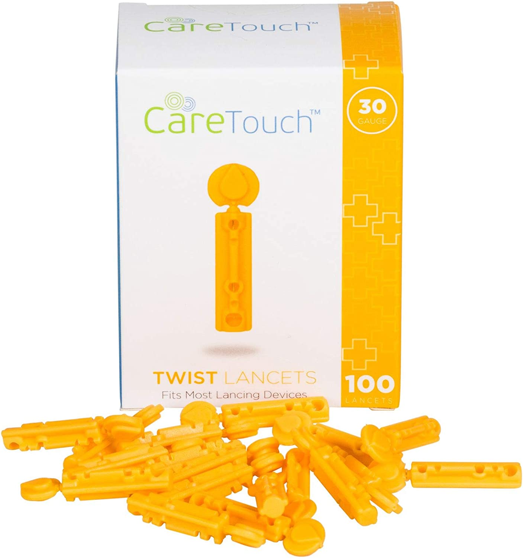 Care Touch CTLAN10030 Twist Top Lancets 30 Gauge, 100 Lancets, Shape, (Pack of 100)