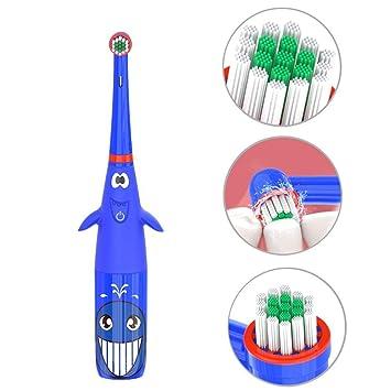 Voiks - Cepillo de Dientes eléctrico para niños, Resistente al Agua ...