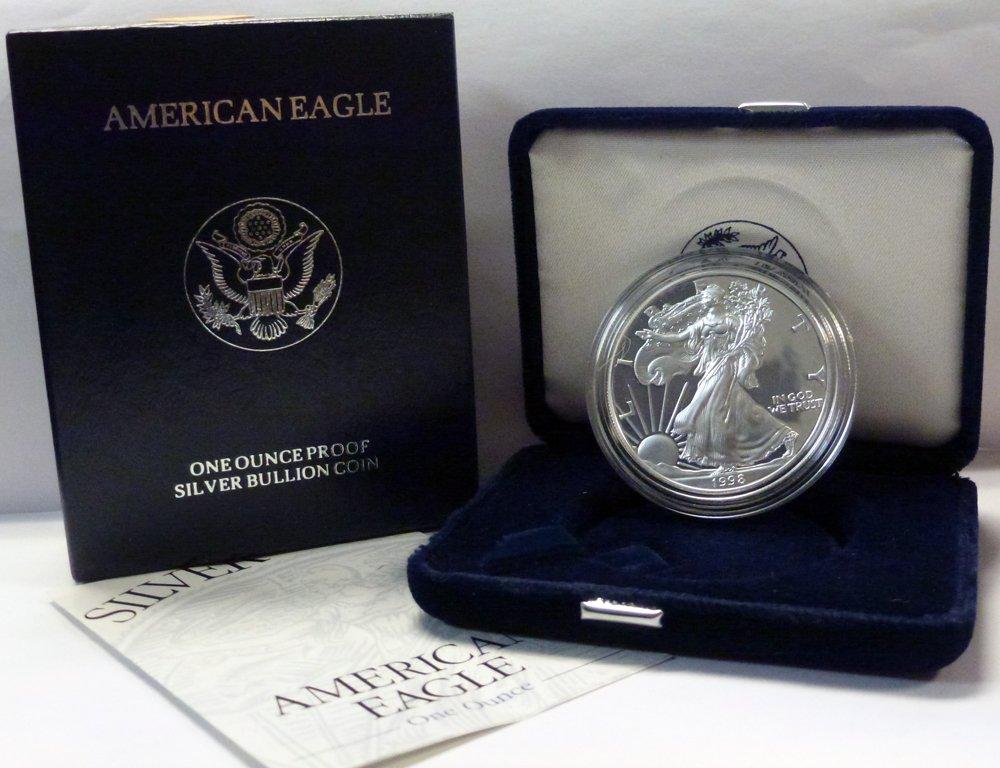 1998 P American 1 oz Silver Eagle Dollar PROOF US Mint