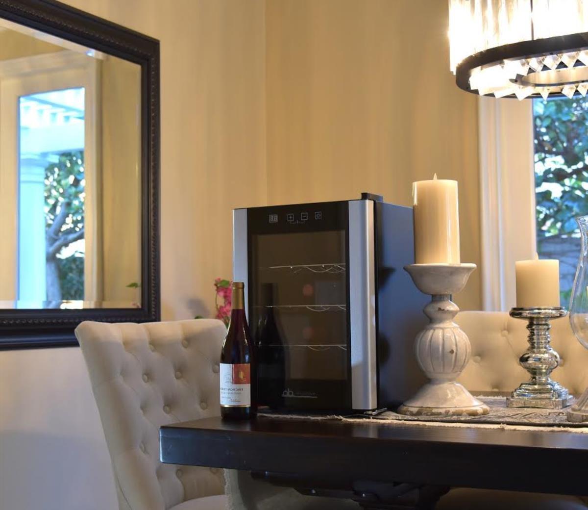 12 Bottle Beverage Wine Cooler Mini Refrigerator Black