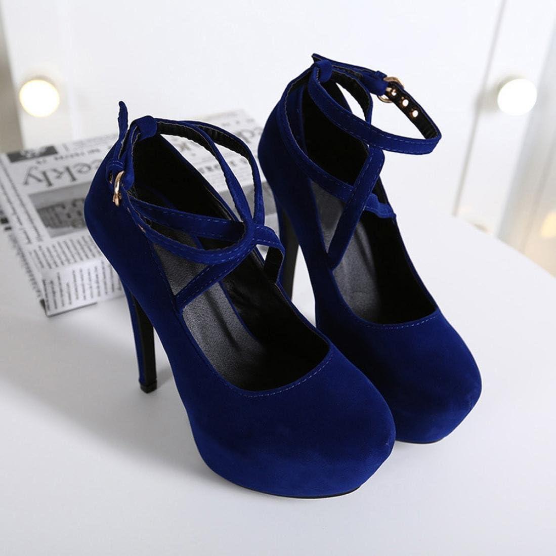 Femmes Sandales Printemps /Ét/é D/écontract/é Mince Talons Chaussures Shallow /à Talons Hauts Simples Chaussures GreatestPAK