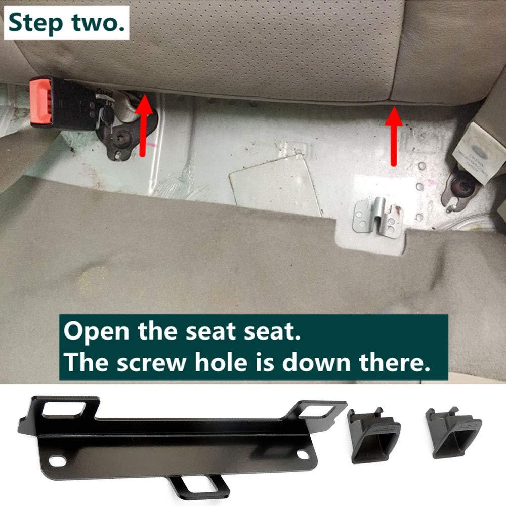VISLONE Kit di Montaggio dellancoraggio di ritenuta per seggiolino Auto Universale per connettore Cintura ISOFIX per auto generale Versione migliorata