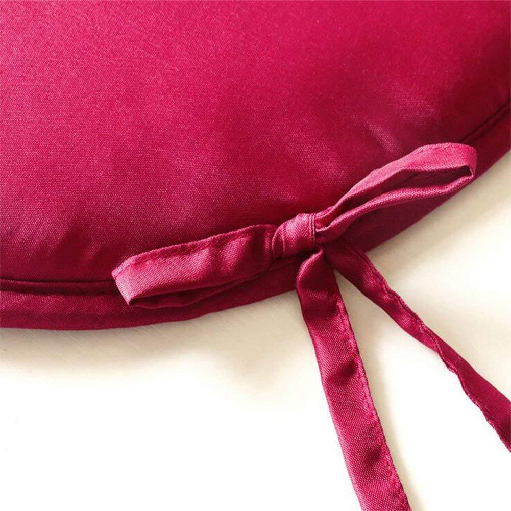 Joasung Confezione da 2/Cuscini per Sedia 40/cm /× 40/cm Sedia da Pranzo Rotondo Tatami Cuscini per sedie Cavi Patio casa Auto Divano Ufficio Decorazione per Interni ed Esterni