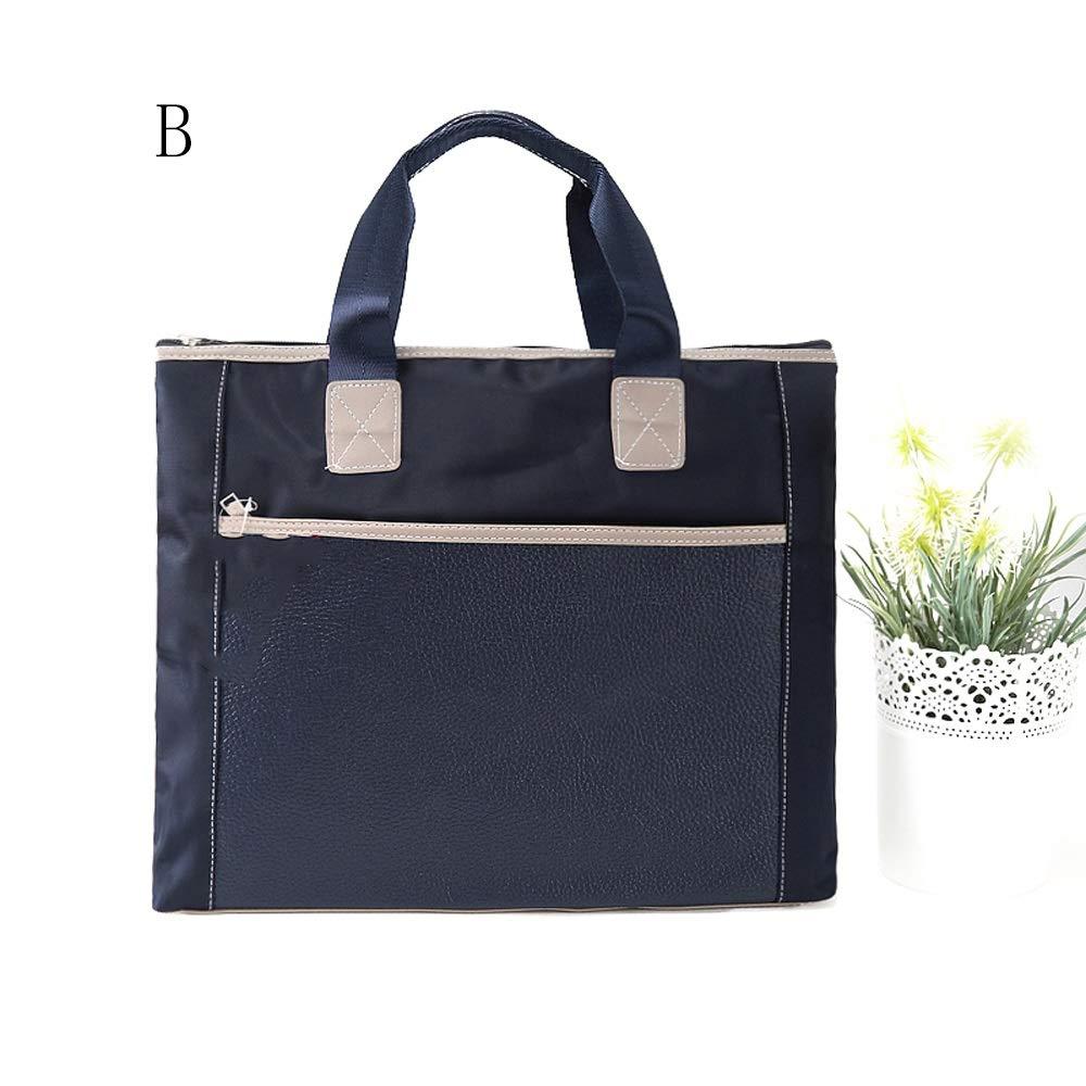 GaoJinZhuan Waterproof Tote Bag Womens Canvas Bag Double Handbag Mens Handbag Briefcase Office File Bag A4 Size : A