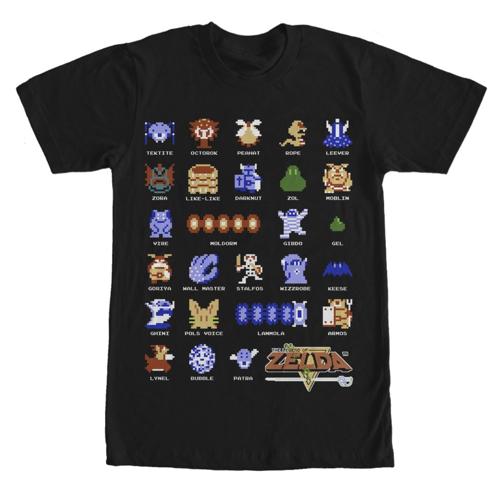 5d8e8fbb Amazon.com: Nintendo Men's Pixelated Legend of Zelda Enemies T-Shirt:  Clothing