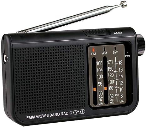 H&T Retro FM/Am/SW Radio, Radios Portátiles De Bolsillo con ...
