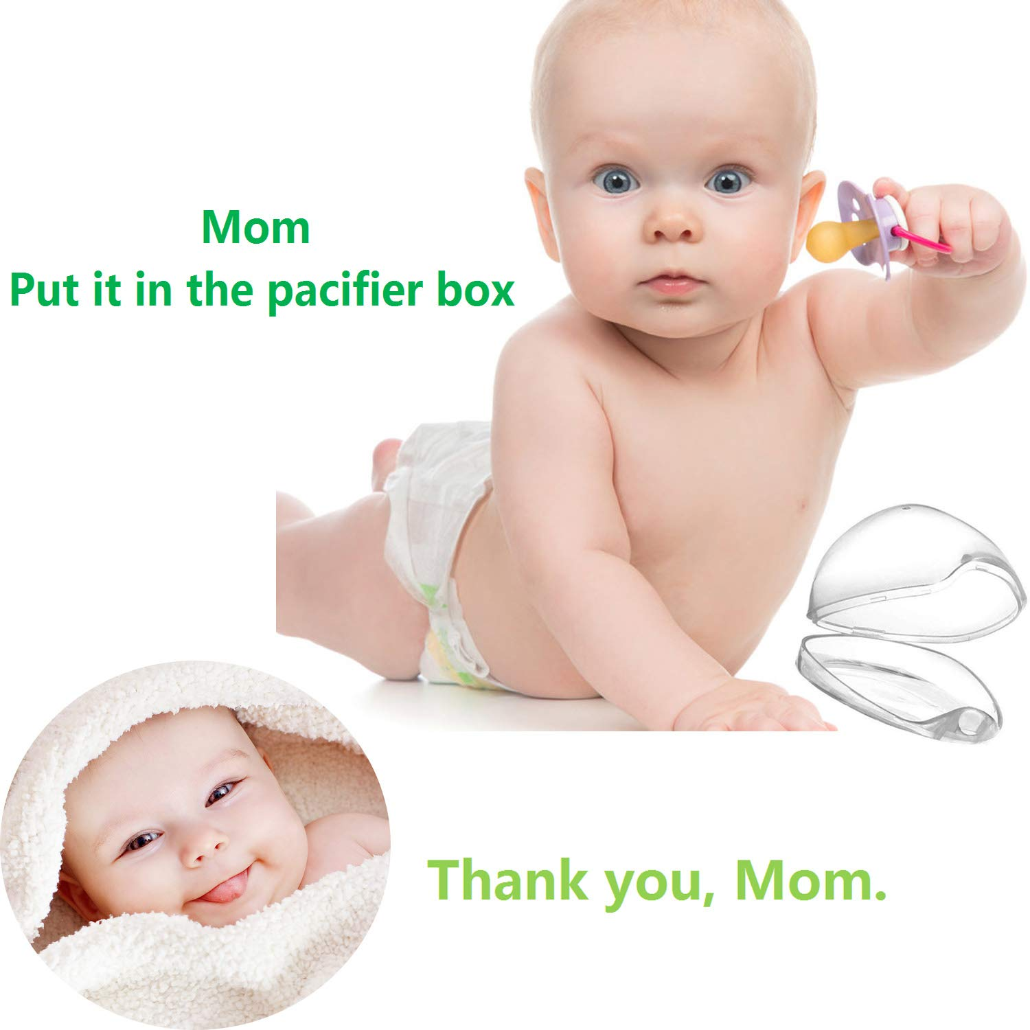 Pacifier Case 4 PCS Nipple Shield Case Multi Function Box Pacifier Box for Travel BPA Free Pacifier Holder