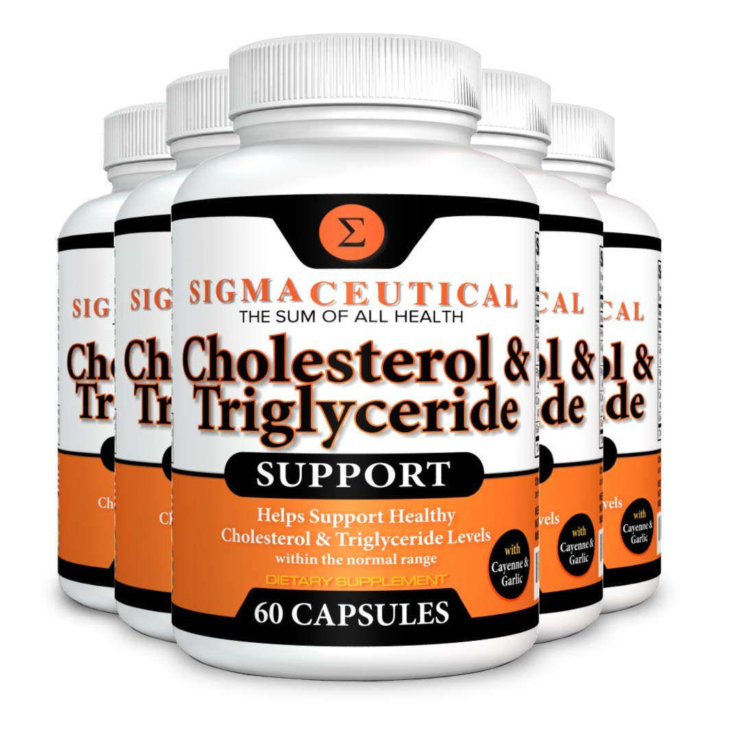 5 Pack of Cholesterol Lowering Supplement - Lower Triglycerides - Natural Sterol Complex - 60 Capsules Each