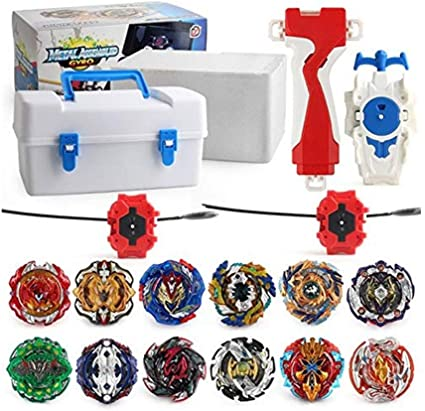 Beyblade Metal Fusion Tops Set Launchers 4D Kids Burst Toys For Children Box