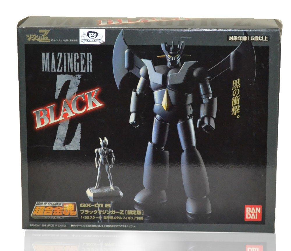 バンダイ 超合金魂 GX-01B ブラックマジンガーZ 限定版 1/32スケール 兜甲児メタルフィギュア付属 MAZINGER Z BLACK B0094BRBQ2