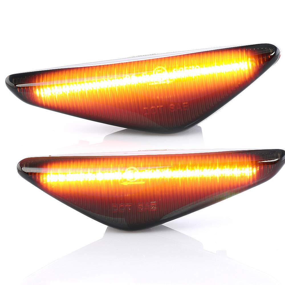 Lot de 2 clignotants lat/éraux LED pour clignotants Avec marquage E V-170154