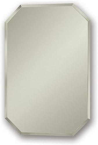 Jensen 1454X Octagon Bevel Mirror Medicine Cabinet, 18 x 27