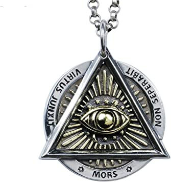 Man Pendant Necklace Handmade Pyramid In Sterling Silver