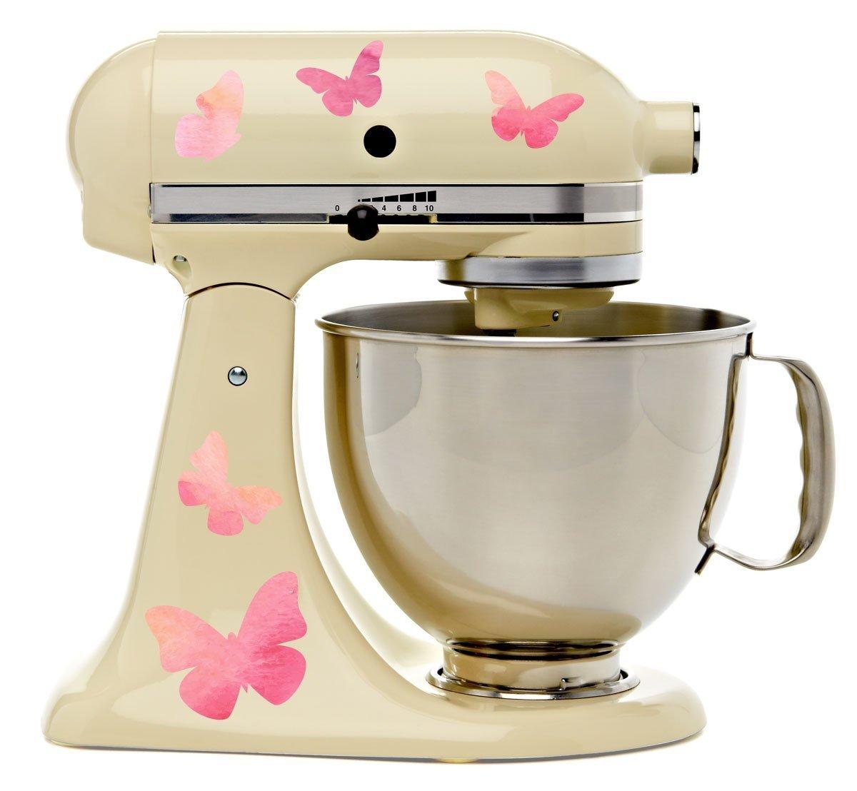 Pink Kitchen Aid Mixer Amazoncom Pretty Pink Butterflies Kitchenaid Mixer Mixing