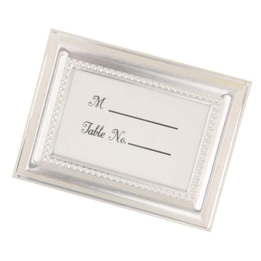 Amazon.de: MagiDeal Hochzeit Tischkarte Halter Rahmen, Bild ...