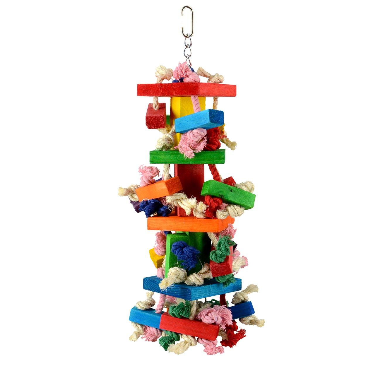 Animal Treasures LBW-0808 Birdie Blocks N Knots Bird Toys