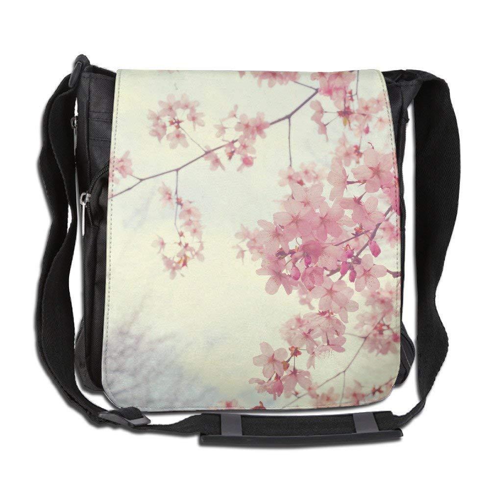 Crossbody Messenger Bag Pink Japanese Sakura Shoulder Tote ing Postman Bags One Size
