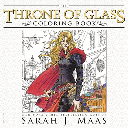 Glasses Roses - The Throne of Glass Coloring Book