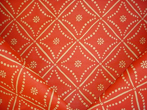 (256H13 - Carnelian / Sand Arabesque / Andalusian Lattice / Trellis Jacquard To the Trade Designer Upholstery Drapery Fabric - By the Yard )