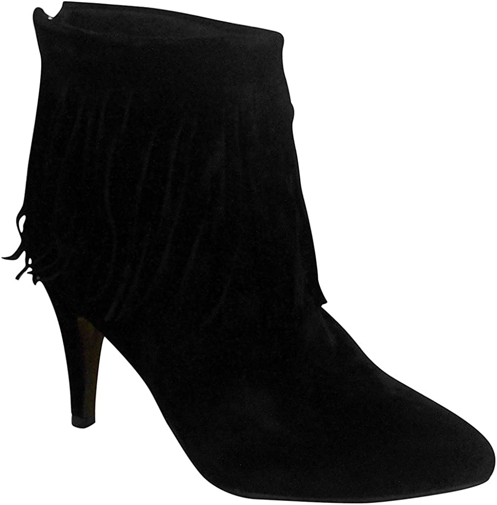 Platinum Collection Womens 61132 Mid Heel Ankle Suede Booties