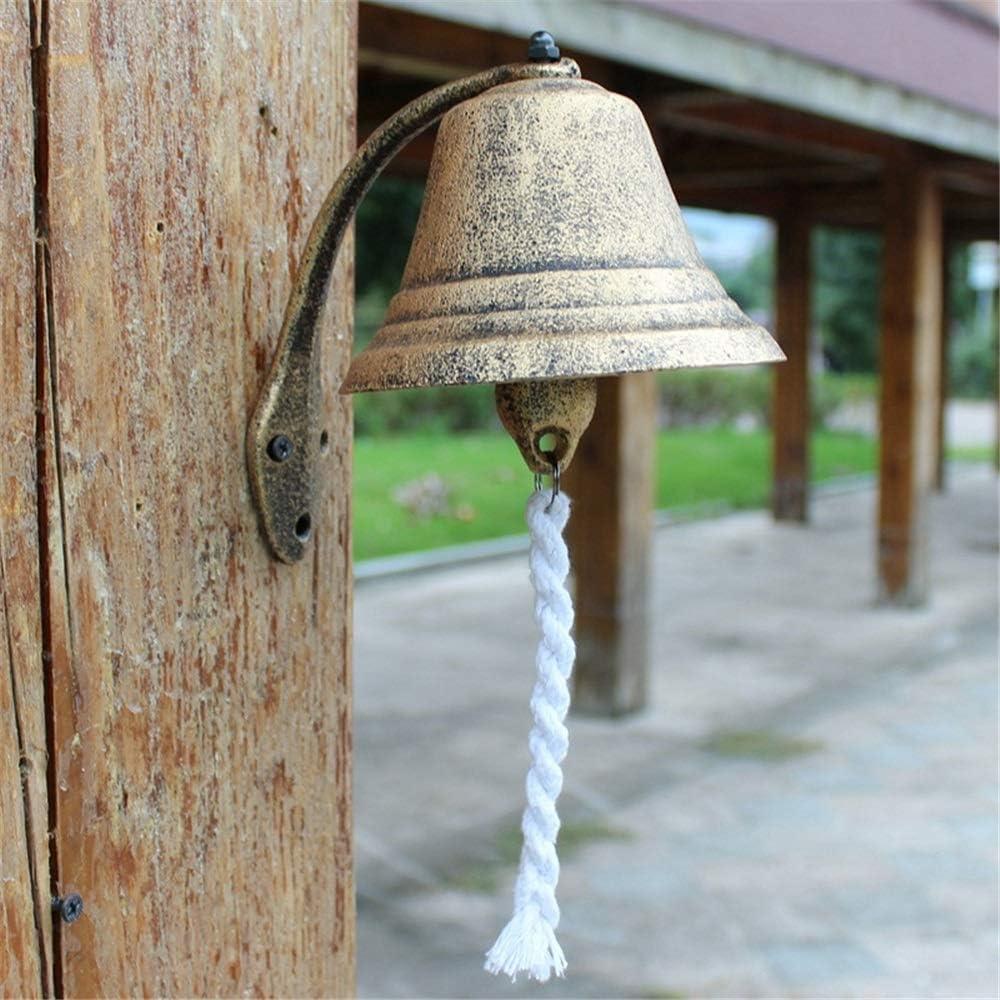 ASDFGG Campana Resistente a la Intemperie Antigua Hierro Fundido Timbre Adornos decoración de la Pared de Hierro Campanas decoración de jardín (Color : Iron, Size : 15x12x15cm): Amazon.es: Hogar