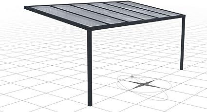 Cubierta de aluminio para terraza, con planchas alveolares de 16 ...