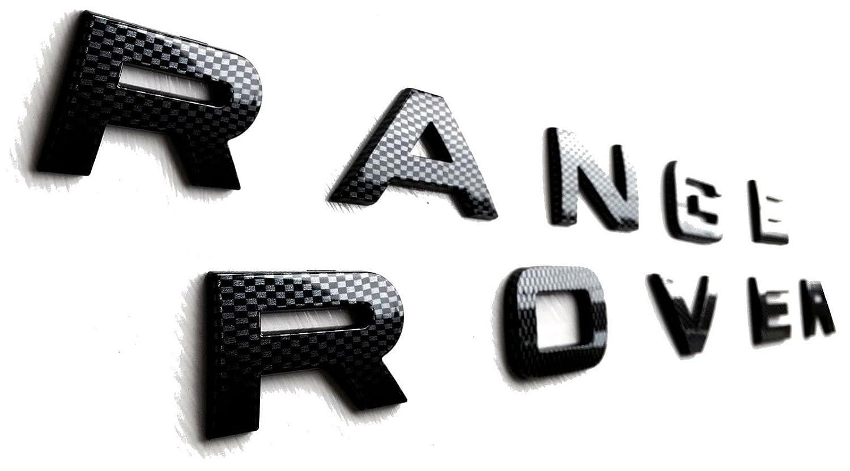 Carbon Effect RAN GE ROV ER Vogue P38 L322 3D Lettering Letters Badge Bonnet/Boot aahmotorsport_com
