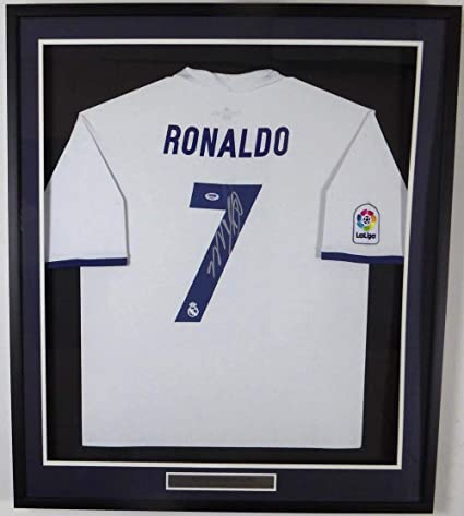 low priced a5dbf 13511 Cristiano Ronaldo Signed Jersey - Framed Fly Emirates Adidas ...