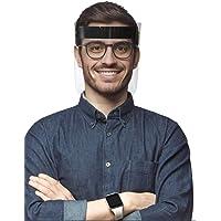 Generico Paquete de 10 Caretas Faciales Protectoras de Ojos, Nariz y Boca Totalmente Transparente. Comodidad, Reutilizable y Lavable.