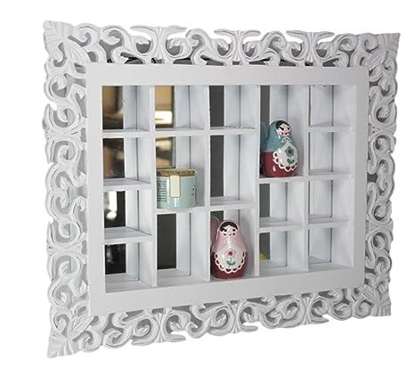 elbmöbel.de - Specchio da parete in stile rustico anticato con vari ...