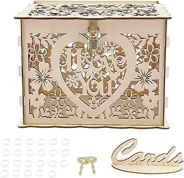 Caja de regalo Zerone, caja de tarjeta de boda con llaves Caja de ...