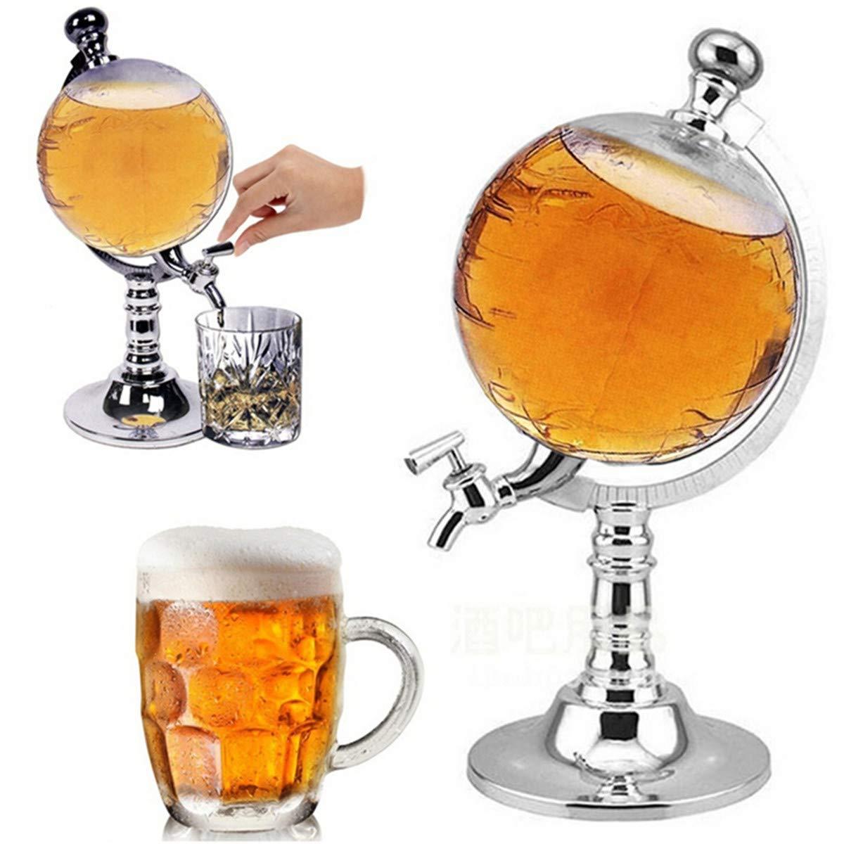 Janolia 1000ml/ 33.82 oz Globe Shaped Drink Dispenser, Drinks Decanter, Drink Tower, Beverage Liquor Drink Dispenser with Tap by Janolia