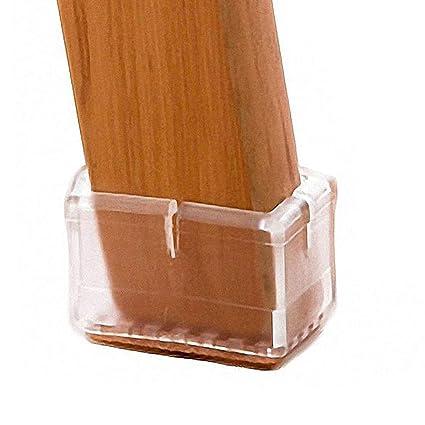 Ordinaire LimBridge Chair Leg Wood Floor Protectors, Chair Feet Glides Furniture  Carpet Saver, Silicone Caps