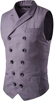 Amazon.com: Chalecos de hombre jwhui waistcoats Slim ...