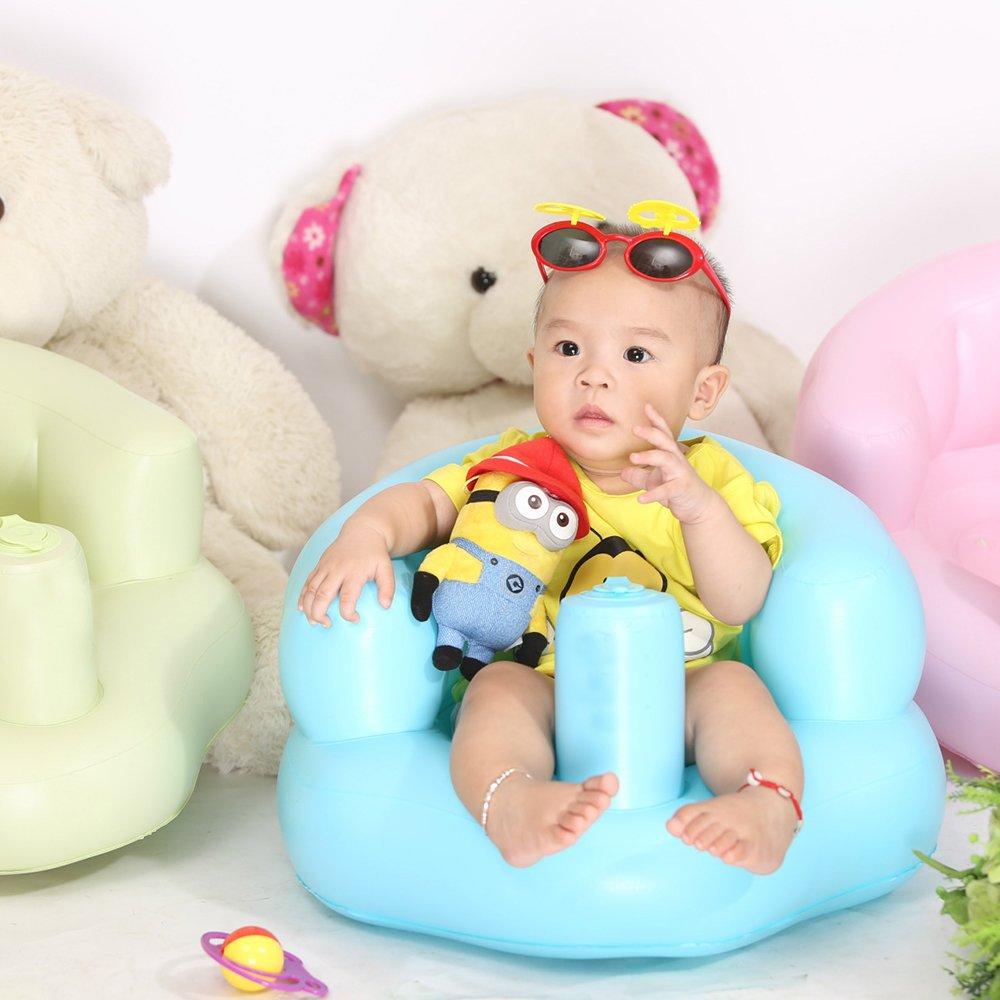 Docooler Silla inflable para beb/és Sof/á de seguridad port/átil para ni/ños Sill/ón de entrenamiento para jugar en el piso de ba/ño Playa junto a la piscina PVC para ni/ños Navidad o regalos de cumplea/ños.