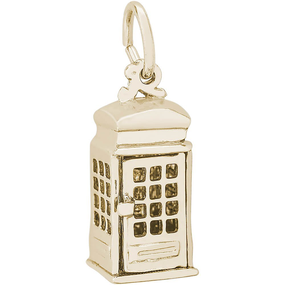 Rembrandt Charms, Phone Booth / TARDIS, 14k Yellow Gold by Rembrandt Charms (Image #1)