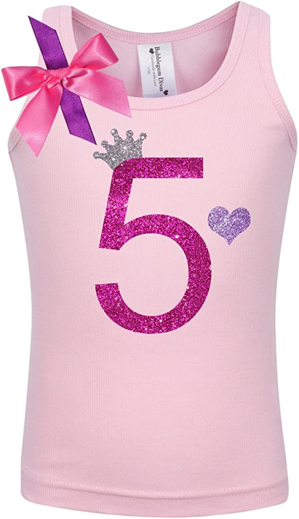Bubblegum Divas Little Girls 3rd Birthday Pink Purple Princess Shirt