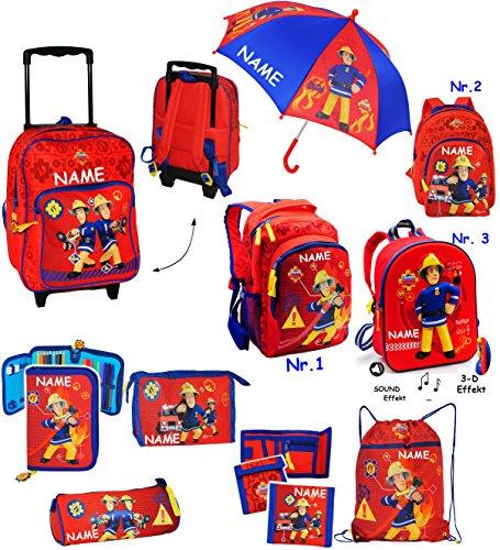 """Kinder Rucksack - """" Feuerwehrmann Sam """" - wasserfest & beschichtet - Kinderrucksack / groß Kind - Jungen - Tasche - z.B. für Kindergarten / Vorschule / Schule - Jungenrucksack - Kindergartenrucksack -"""