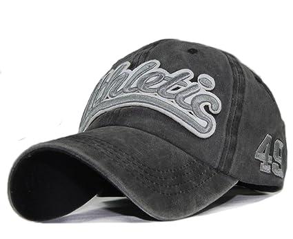 fd8b21a3cd2 Unisex Baseball Cap Vintage Jeans Golf Hat Sun Beach Cotton Adjustable Cap  Visor Anti-UV