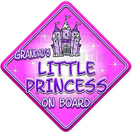 GRANDADS PRINCESS on board novelty non personalised baby car window sign FANTASY