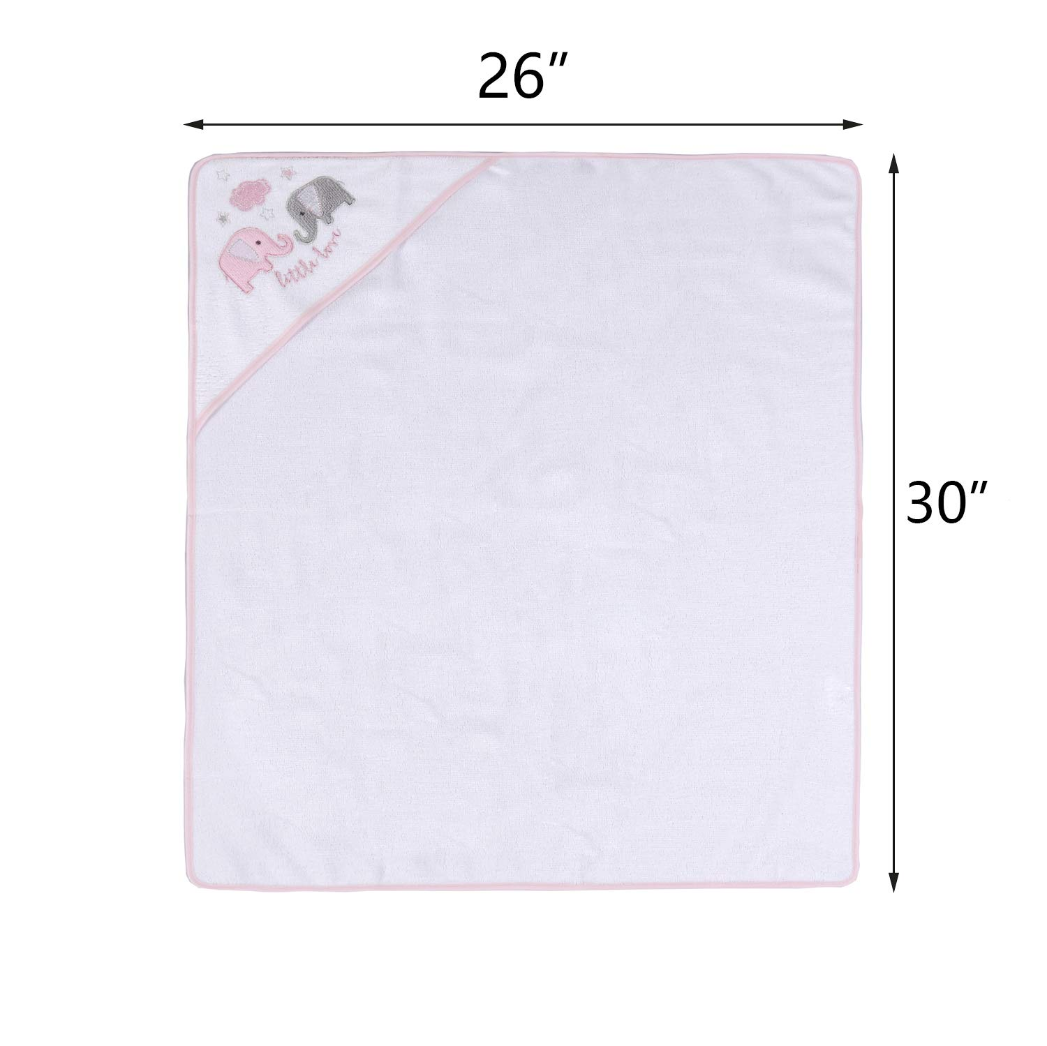 Great Gift for Infants and Newborn 3 Pack Viviland Baby Hooded Bath Towel Soft Touch and Strong Absorption