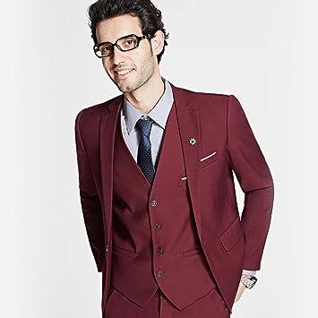 GFRBJK Novio Vestido de Negocios Formal Blazer Establece un ...