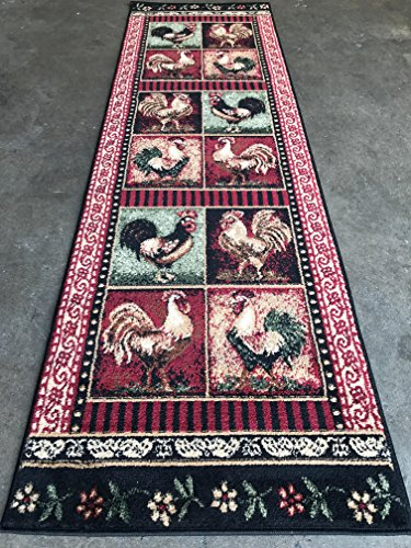 Rooster Black Area Rugs - 8