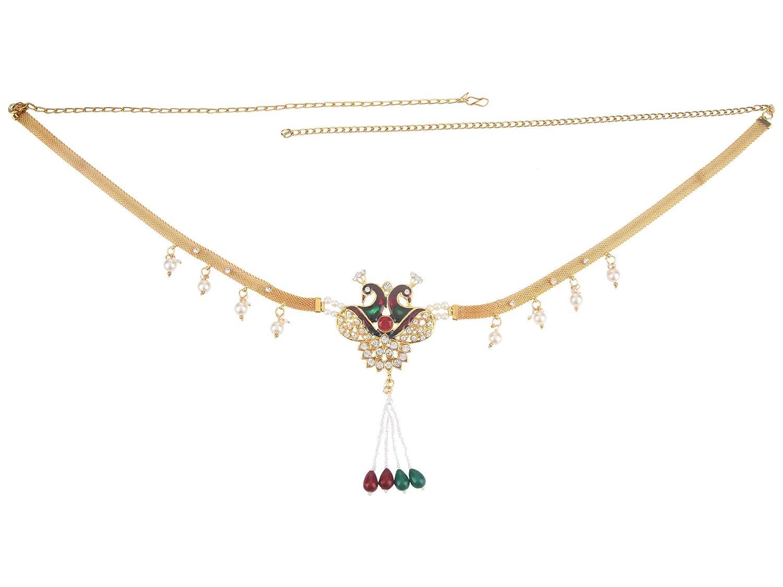Indian Multi Colour Kamar Bandh Wedding Sari Belt Waist Hip Chain Jewellery